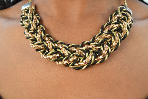 Multi Tone Braided Necklace