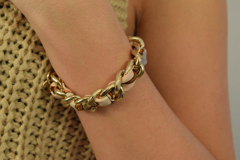 Multi-Color Ribbon Chain Bracelet