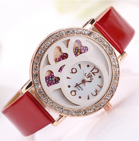 Rhinestone Decoration Bead Wristwatch