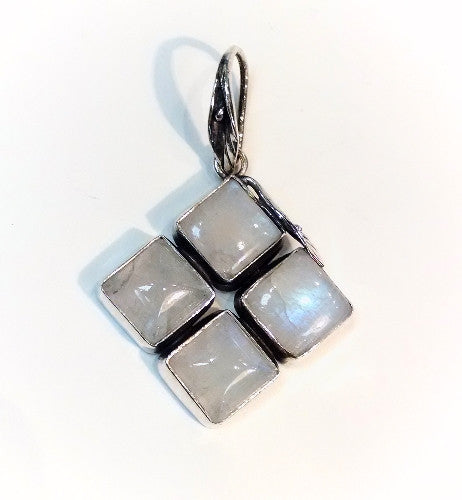 Moonstone 4 Square Pendant