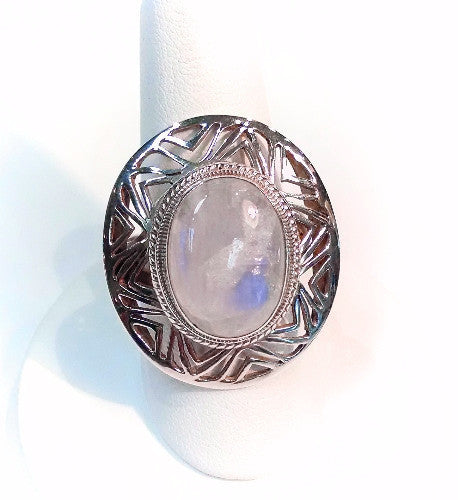 Moonstone Statement Oval Ring