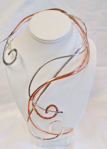 Copper and Sterling Silver Statement Collar