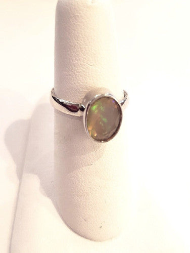 Opal Ring - Faceted Ethiopian Opal
