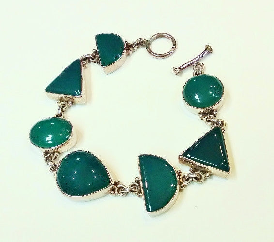Onyx (Green) Assorted Shapes Bracelet