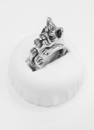 Simply Sterling Silver Pug Ring