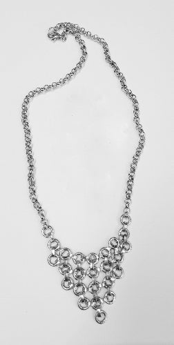 Sterling Silver Chainmaille Bib Necklace
