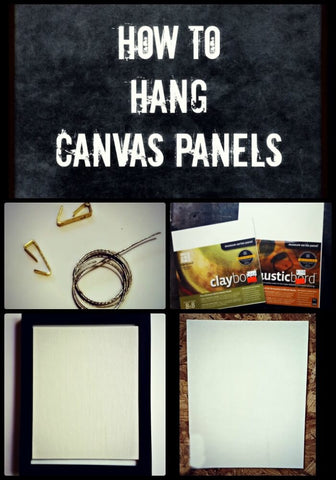 how to hang canvas panels