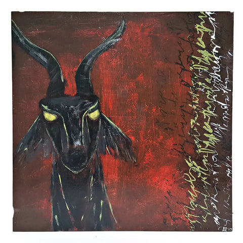 black goat painting