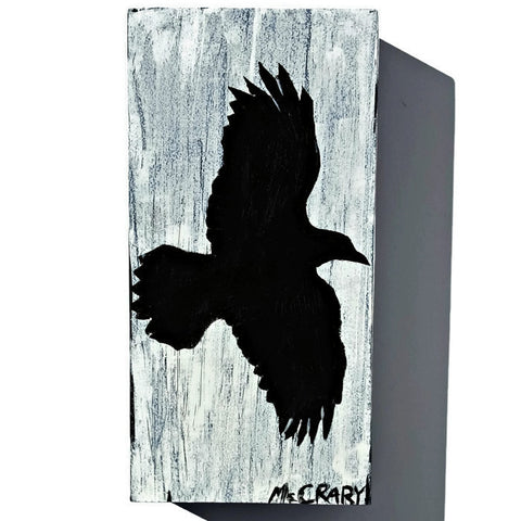 minimalist decor flying raven