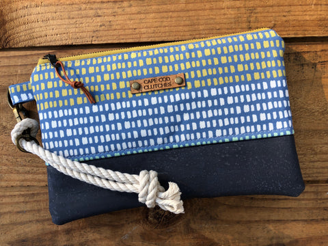 Rope Wristlet- Multi Color with Slate Cork