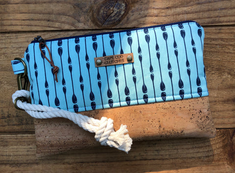 Oar Print Rope Wristlet with Natural Cork