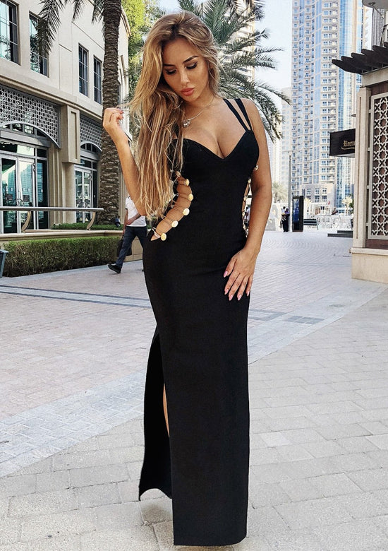 Hollywood Glam Sexy Cut Maxi  Dres