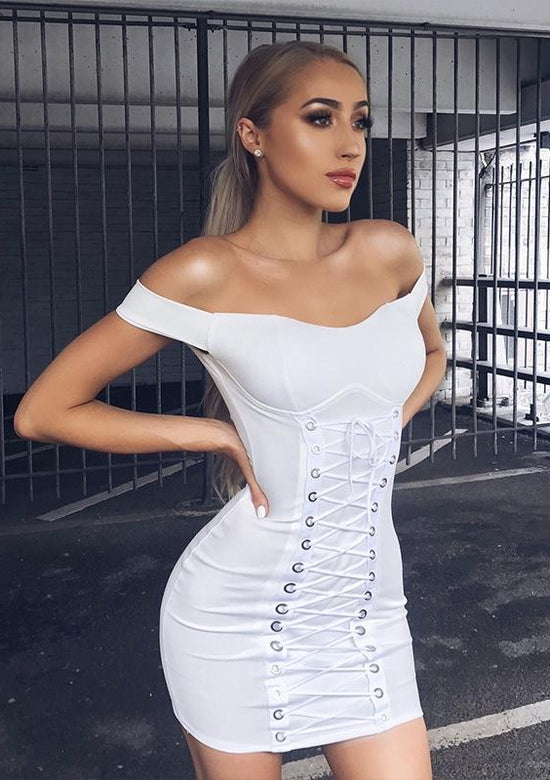 Lace me up Sexy Mini Dress
