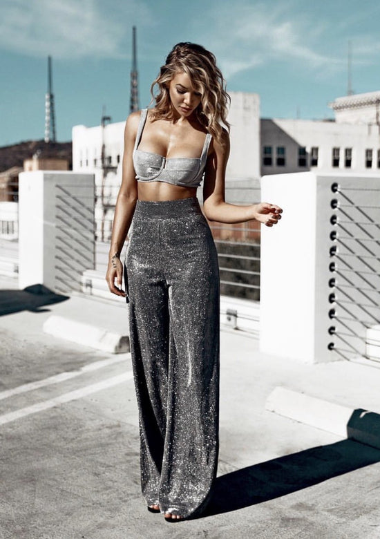 MArgo Silver Sparkly two piece set