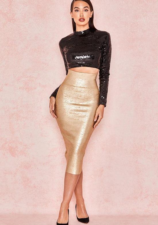 Lareina Luxury Sequined Two Piece Outfit