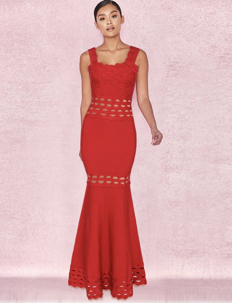 86174b71014 Red Ruffle Maxi Dress Special Edition Maxi dresses Collectipn