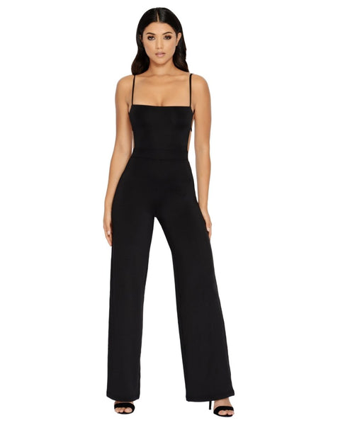Lit Open Back Black Sexy Summer 2018 Jumpsuit Collection by MiamiStyle