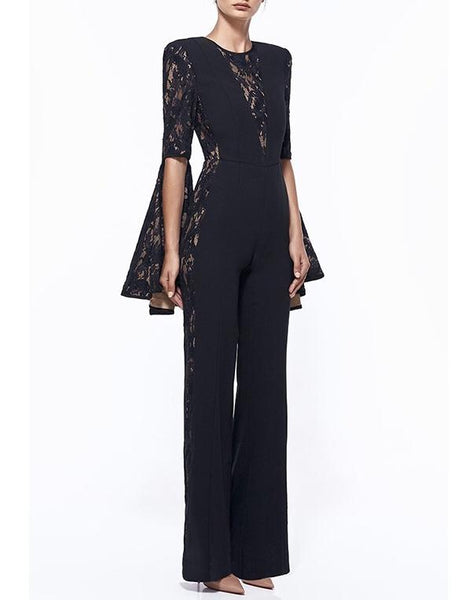 Estella Fashion Long Slevee Elegant jumpsuit by Fashion Miami Styles