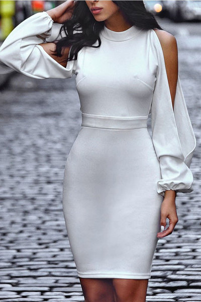9d5171169d Cut Out white party dress Stretch sexy white dress FashionMiamiStyles