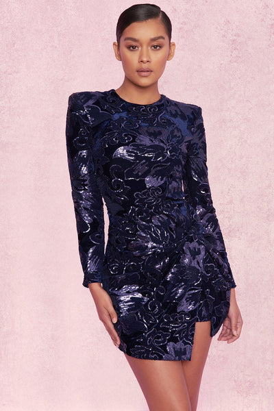 Embellished Velvet Sequin Limited Edition Dress