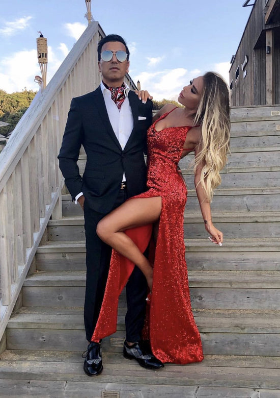 Date Night Red Sexy Maxi Dress
