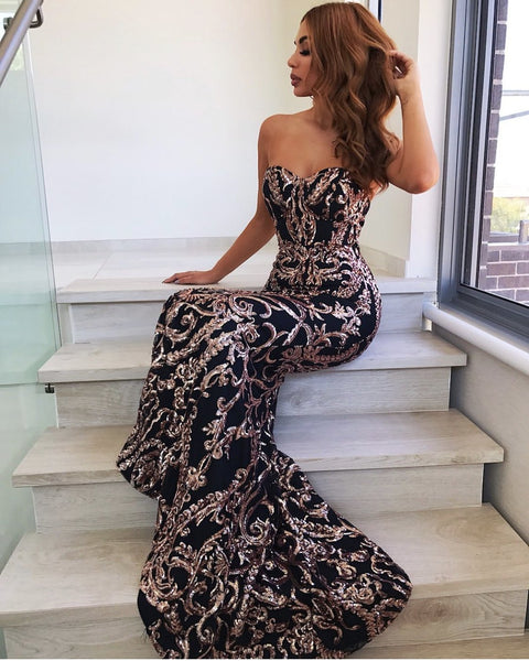 Luxury designer cheap dresses Sequined Maxi Dress
