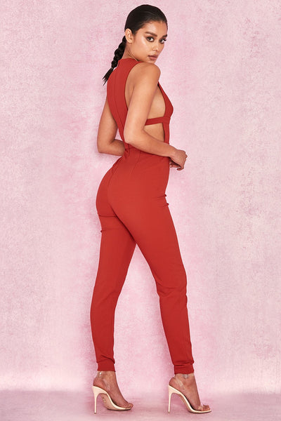 Xtreme Jumpsuit arrivals 2018 Hot Red Color Sexy Jumpsuit