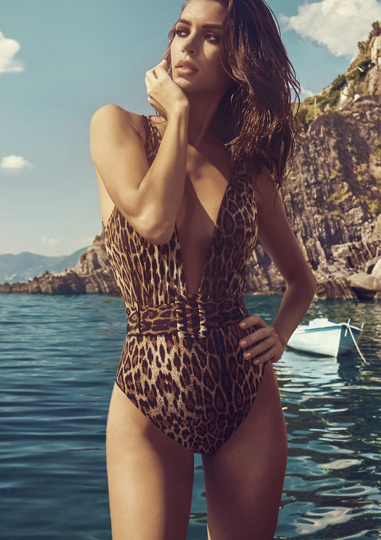 Hadley Belted Plunge One Piece