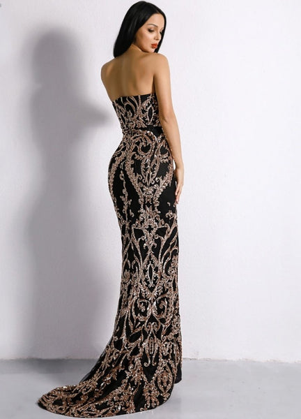 Mary Sequined Maxi Dress