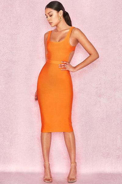Holly Cut Out Back Midi dress