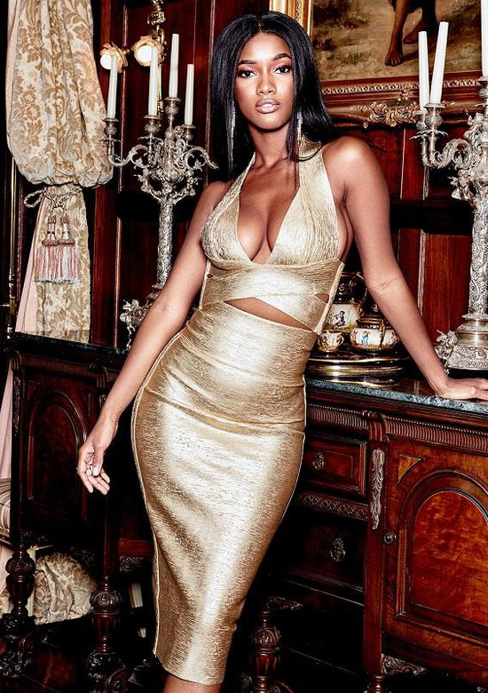 Silvena Gold Ultra Luxe Set Dress