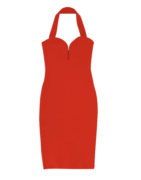 Alesya Red Midi dress Sexy Party women's outfit and dresses collection