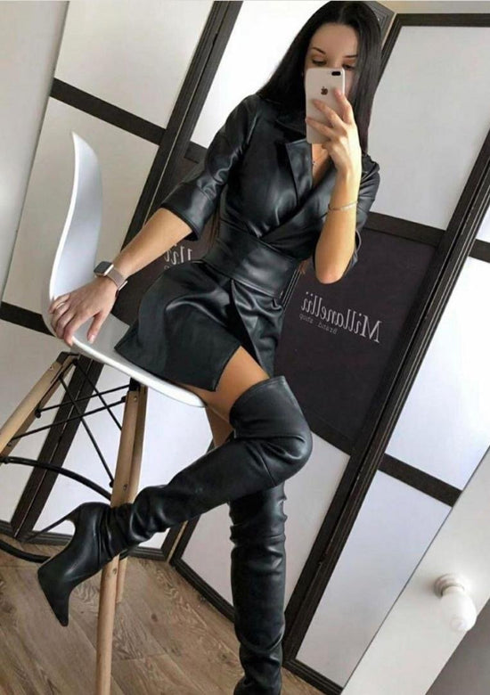 Belinda Vegan Leather Dress