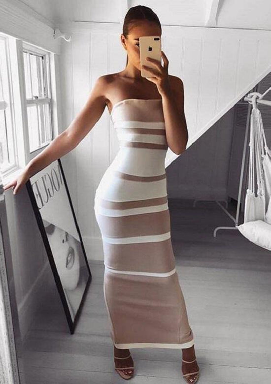 Fantasia Hourglass Shape Bandage Maxi Dress