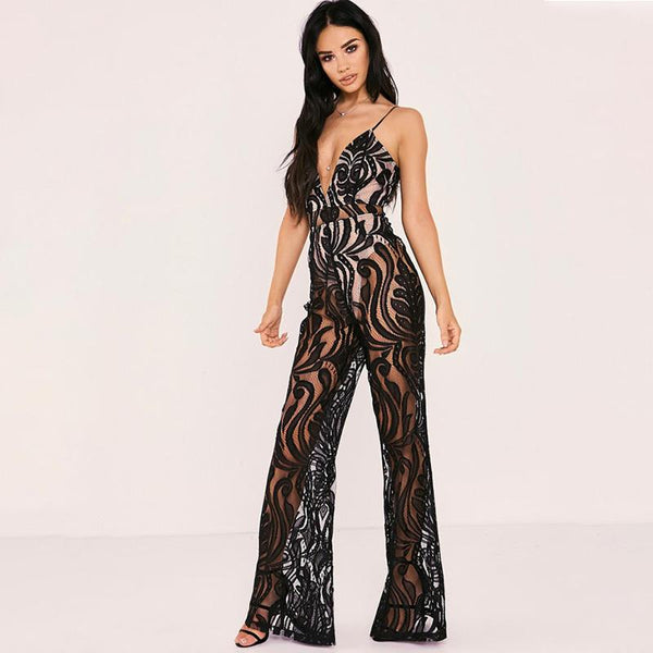 Hermosa Sexy Lace New Jumpsuit
