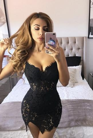 Miramar Sexy Lace Black Dress