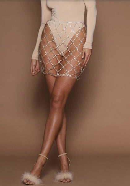 CLEO Diamante Cage Skirt