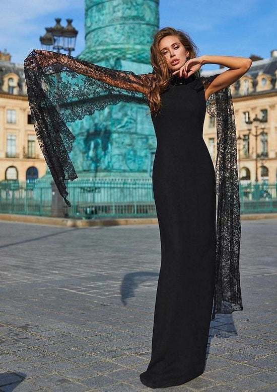 Flomenco Elegant Lace Long Sleeve Maxi dress