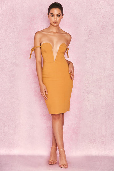 Deep Plunge Off shoulder Dress Bodycon dresses Designed in Miami style