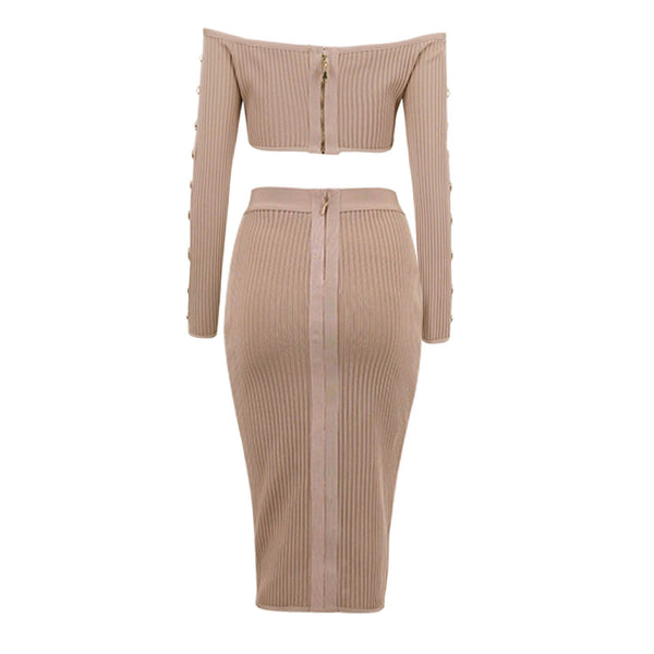 Gorgia Trendy Ribbed two piece set