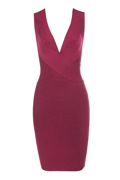 Super killer wine color midi dress