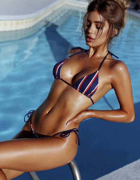 Navy Stripes Bikini