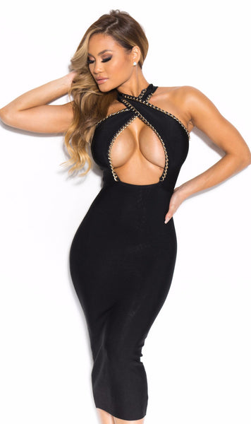 Sexy Hot Bandage Dress Black | Fashion Miami Styles