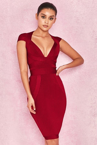 Sexy hot red dress for party