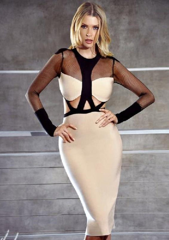 Fornarina Mesh Bandage Dress