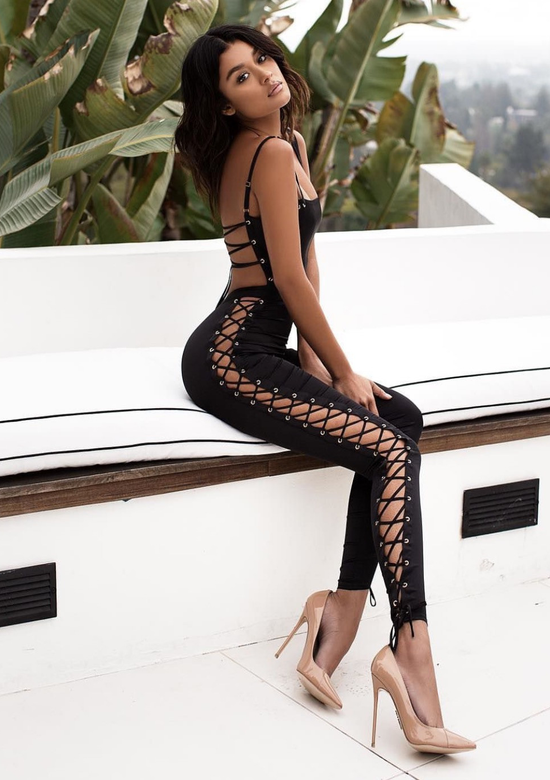 Tsarina black bandage jumpsuit fashion trend 2018 BB