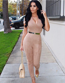Yigal Tan Jumpsuit last trend