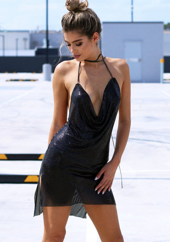 Kenny Black Mini Dress Celebrity Style