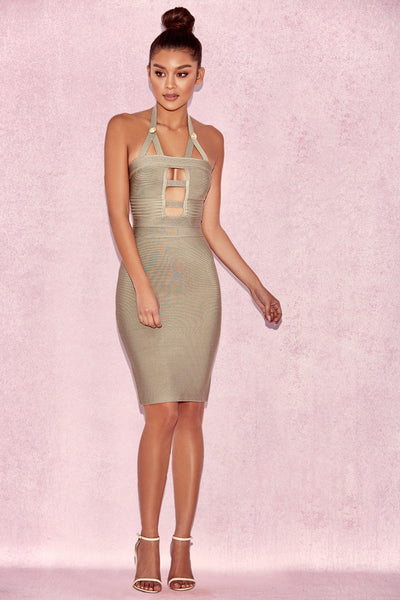 Lina Cut Out Bodycon Olive Miami Clubwear  Miami Styles