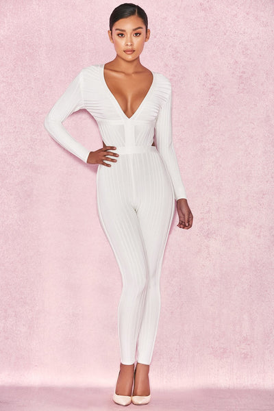 White Bodycon Jumpsuit